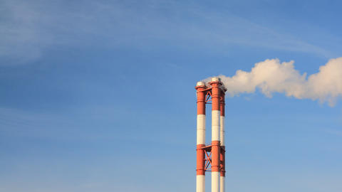 Smoke stacks timelapse Footage