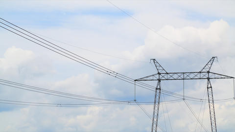 Power Lines Timelapse stock footage