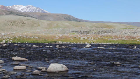 Rapid mountain river in Mongolian Altai ( Dayan ) Footage