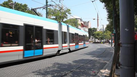 Rapid tram Stock Video Footage