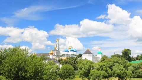 Holy Trinity Saint Sergius Lavra timelapse Stock Video Footage