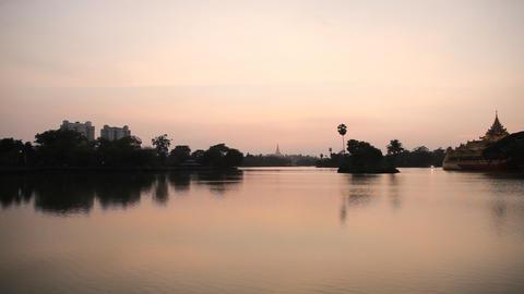 Shwedagon Pagoda sunset Footage