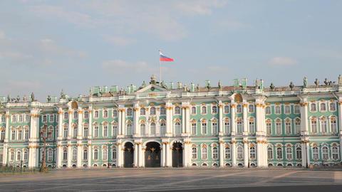Ermitazh building in in St. Petersburg , Russia Stock Video Footage