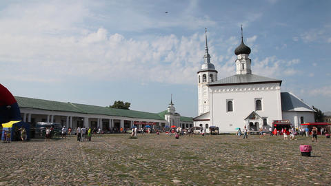 Central plaza of Suzdal city Footage