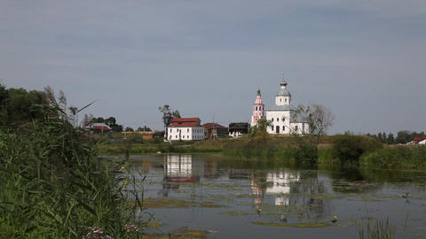 Ilinskaya church in Suzdal Stock Video Footage