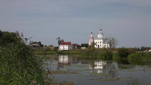Ilinskaya church in Suzdal Stock Video Footage