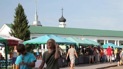 Street of Suzdal city Footage