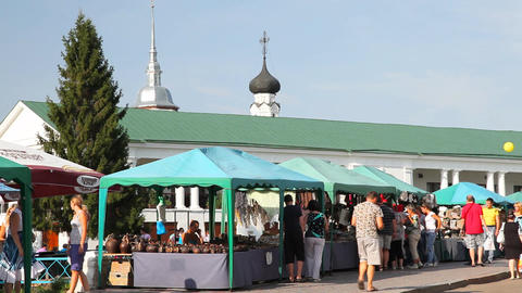 Street of Suzdal city Stock Video Footage