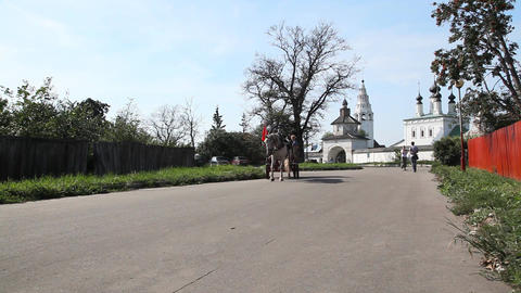 The Saint Alexander convent in Suzdal Stock Video Footage