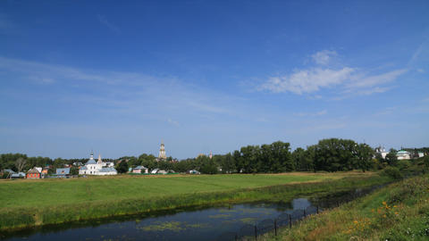 Suzdal city timelapse Stock Video Footage