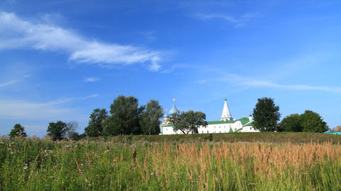Kremlin in Suzdal timelapse Footage