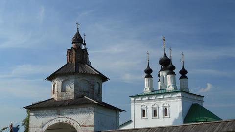 Alexandrovsky convent in Suzdal timelapse Stock Video Footage