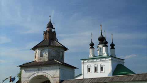 Alexandrovsky convent in Suzdal timelapse Footage
