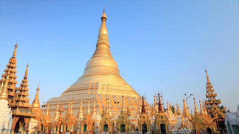 Shwedagon Pagoda timelapse Stock Video Footage