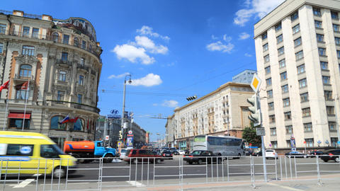 Moscow street timelapse Stock Video Footage
