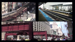 Chicago L Trains   stock footage