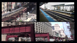Chicago L Trains Stock Video Footage