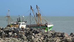 Trawler 1 Stock Video Footage