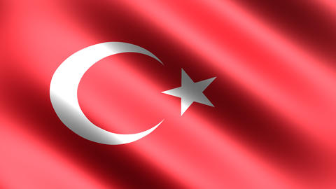 4K Flag Animation Turkey, Stock Animation