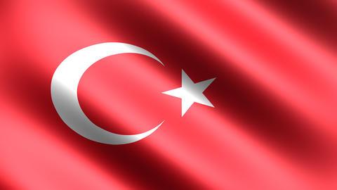 4K Flag Animation Turkey Stock Video Footage