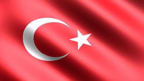 4K Flag Animation Turkey Stock Video Footage