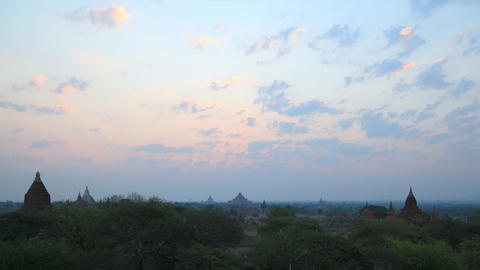Bagan sunrise timelapse Stock Video Footage