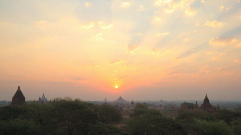 Bagan sunrise timelapse Footage