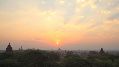 Bagan sunrise timelapse Footage