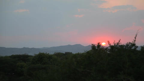 Sunset in Bagan timelapse Footage