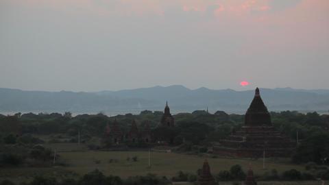 Sunset in Bagan timelapse Footage