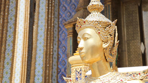 Sculpture In Grand Palace stock footage