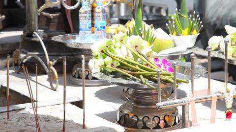 Candles in Grand Palace of Bangkok Footage