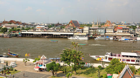 Chao phraya river timelapse Stock Video Footage
