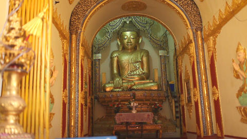 Buddha in Indein pagoda, Myanmar Stock Video Footage