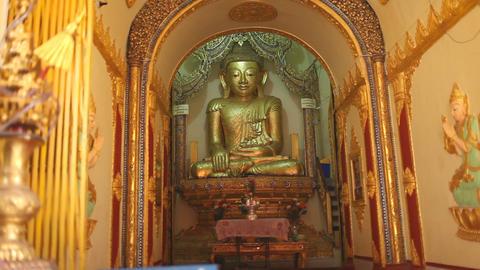 Buddha in Indein pagoda, Myanmar Stock Video Footage