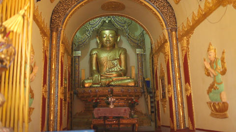 Buddha in Indein pagoda, Myanmar Footage