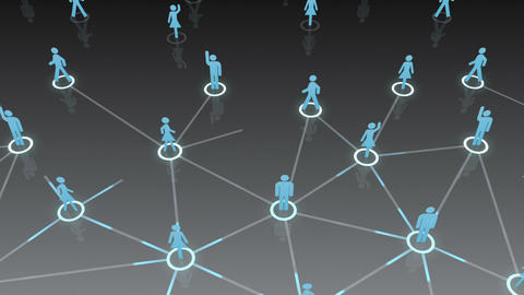 Social Network Connection A 1b 2 HD Stock Video Footage