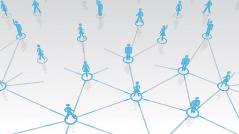 Social Network Connection A 1w 2 HD Stock Video Footage