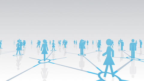 Social Network Connection A 2w 2 HD Stock Video Footage