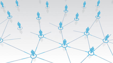 Social Network Connection B 1w 2 HD Stock Video Footage