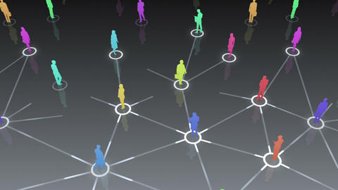 Social Network Connection D 1b 1 HD stock footage