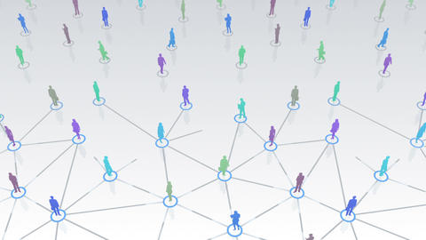 Social Network Connection D 3w 1 HD Stock Video Footage
