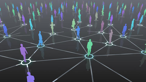 Social Network Connection D 4b 1 HD Stock Video Footage