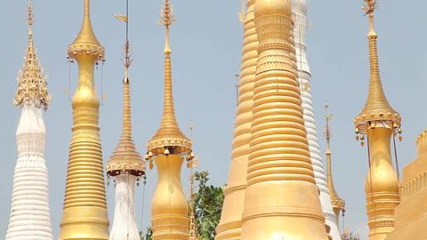 Pagoda Indein, Myanmar Stock Video Footage