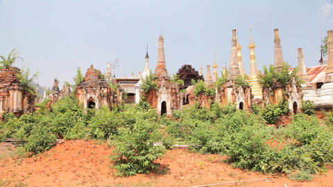 Pagoda Indein, Myanmar Footage