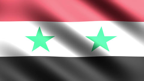 4K Flag Syria Stock Video Footage