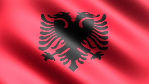 4k Flag Albania Stock Video Footage