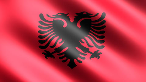4k Flag Albania Animation