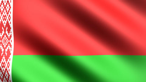 4k Flag Belarus Animation