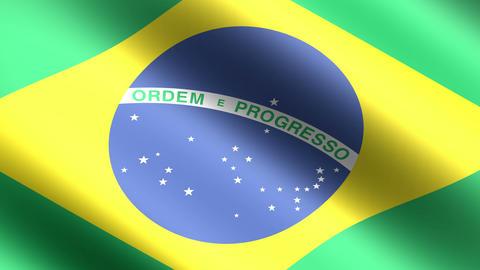 4K Flag Brazil Stock Video Footage